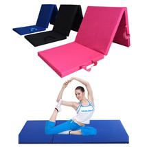 3 Folding Panel Gym Mat Sports Fitness Yoga Exercise Floor Pad 70 x 23 x... - $65.99