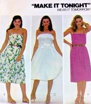 Vintage Sewing Pattern Womens UNCUT Dress 1980s Fast Sz 6 Bust 30.5 McCa... - $9.89