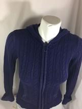 Arizona Women Midnight Blue Jacket Zip Up Size M Long Sleeve Bin4#38 - $14.03