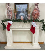White Marble Fireplace Surround Mantel Living Room Family Natural Stone ... - $3,398.00