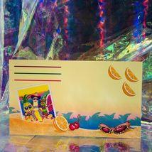 Vintage Lisa Frank Single Letter Set Stationery FABULOUS FRUIT Postalette &sheet image 4