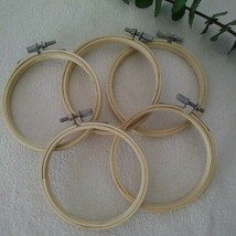 """5x Embroidery Craft Hoops 4"""" Wood Cross Stitch Display Ornament Wall Han... - $16.83"""