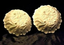 Vintage 2 nine inch white glass bowls with floral design AA19-1400 image 5