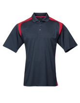 Tri-Mountain Blitz 145 Knit Polo Shirt - Navy /  Red - $24.85+