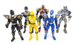 Lot Of 6 Power Rangers Action Figures 2 Red 1 Gold Ranger 2002 - 2003 Fi... - $43.18
