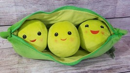 Official Disney Store Toy Story 3 Plush Pea Pod 3 Peas Stuffed Toy Green... - $14.54