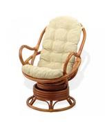 Rattan Wicker Swivel Rocking Chair David w/Cushion - $211.49