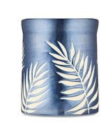 Bath & Body Works Blue Palm Frond Candle Pedestal Holder - For 3 Wick Ca... - $32.66
