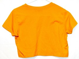 Missguided Women's Yellow Crop Top Short Sleeve T-Shirt Size 4 image 2