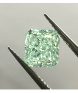 Rare Green Diamond - 0.57ct Natural Loose Fancy Green Color GIA VS1 Radiant - $12,447.50