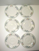 Vintage Gibson Butterfly And Flowers Ceramic Saucer Dish Plate Set Of 6 ... - $17.82