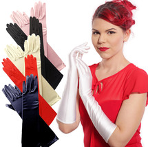 "Elegant Stretch Satin 15"" Elbow Length Gloves - Evening, Party, Dress Up... - $14.00"