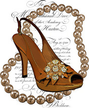 high heel shoe pearl necklace printable art clipart png download digital... - $3.50