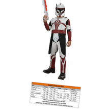 Rubies Star Wars Clone Wars Child's Clone Trooper Commander Fox Costume ... - $31.33