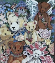 Something Special Teddy Bear Collage Counted Cross Stitch Kit Vintage - $19.30