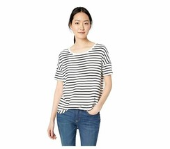 Daily Ritual Womens Jersey Rib Trim Drop-Shoulder Short-Sleeve Scoop Nec... - $13.09