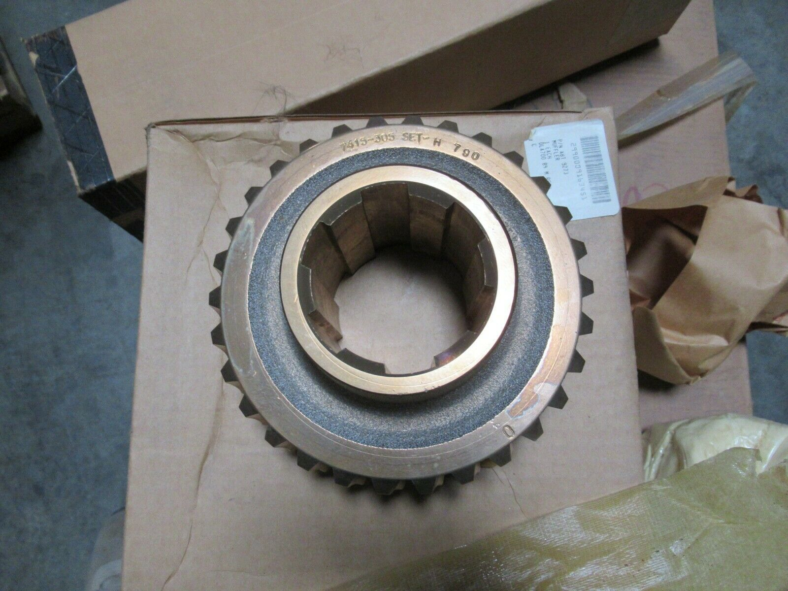 Cone Drive Operations 7415C-255/305 Worm and Worm Wheel Matched Gear Set