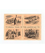 FDC AIR MAIL POSTCARD-TOURISM YEAR OF THE AMERICAS '72-GRAND CANYON , AZ... - $1.47