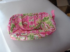 Vera Bradley small cosmetic with carry handles in retired Petal Pink - $14.00