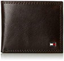 Tommy Hilfiger Men's Leather Wallet Billfold Chocolate 31TL13X051 New w/o Tags image 4