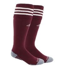 ADIDAS Men's Copa Zone Cushion Climalite Athletic Burgundy Socks Size M NEW - $9.89
