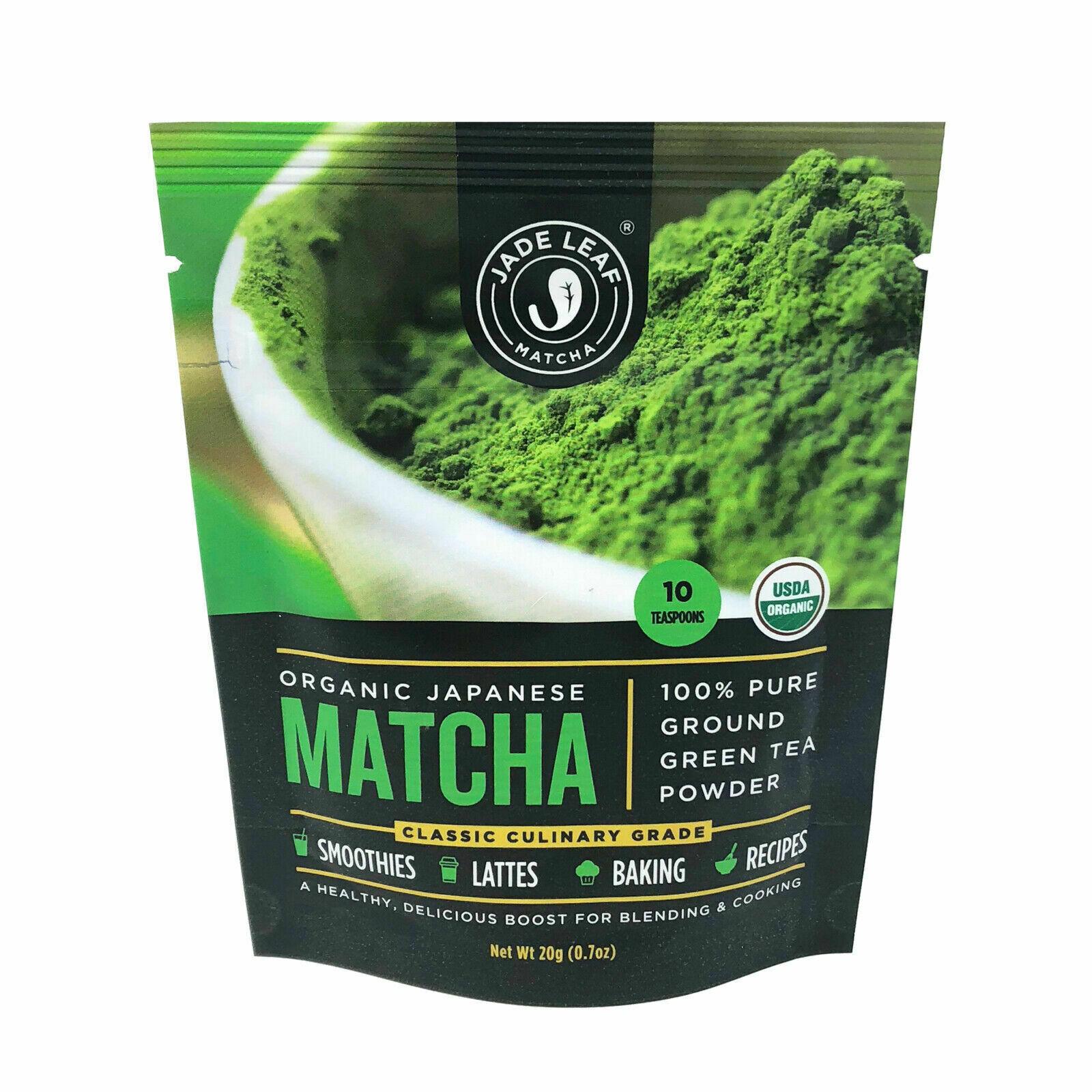 Jade Leaf Matcha, Organic Japanese Culinary Grade, Powdered Tea,  0.7 Oz