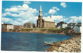 Nova Scotia L'Eglise St Pierre Cheticamp Cape Breton Vintage Postcard - $5.95
