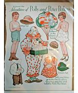 Paper Dolls Adventures of Polly & Peter Perkins Gertrude Kay Circus Clow... - $19.75