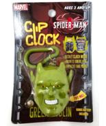 2003 Marvel Clip Clock Spider Man Green Goblin - $9.99