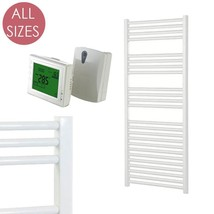 AURA 25 Straight White ELECTRIC Heated Towel Rail / Warmer + WIRELESS TIMER - ₨13,577.13 INR+
