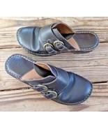 B.O.C. Born Size 9M Concept Brown Leather Closed Toe Slide Mule Sandal W... - $18.99
