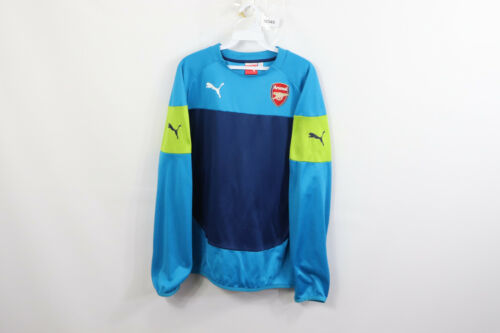 Primary image for Puma Mens Large Arsenal Long Sleeve Soccer Football Jersey Shirt Blue Polyester