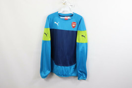Puma Mens Large Arsenal Long Sleeve Soccer Football Jersey Shirt Blue Po... - $39.55
