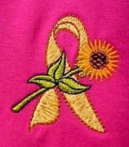 Yellow Ribbon Sunflower Awareness T Shirt 2XL Liver Sarcoma Bladder Cancer Pink - $23.25
