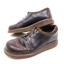 Dr. Martens Wing Tip Oxford Shoes Womens 9 Mens 8 41 EU Brown Leather Lace Up - $39.63