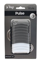iFROGZ Case for IPOD TOUCH 4G Glossy Gray+White PULSE Ridged Hard Plasti... - $2.98