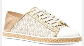 Michael Kors Kristy  Women Lace Up Gold Tone Size 7  vanilla New - $56.99