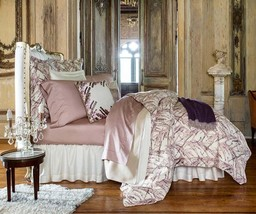 Sferra Pallina Duvet Cover F/Queen Blossom Pink Egyptian Cotton Sateen Italy New - $259.90