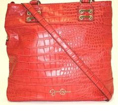 Nwt Handbags Jessica Simpson JS6834 Dixie Croco Tote Strawberry - $79.30