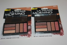 L.A. Colors 6 Color Eyeshadow Palette Set CBES971 Morning Glow Shimmer Matte NEW - $12.34