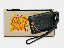 Coach X Jean Michel Basquiat Pouch Duo Dino Wristlet Card Wallet ~NWT~ C... - $156.42