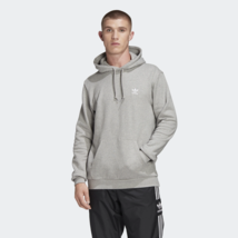 Adidas Originals Essential Hoody Pullover Hoodie Pocket Long Sleeves Gray FM9958 - $89.99