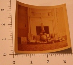 Vintage Christmas Photo Presents at Fireplace with hanging Stocking Sepi... - $3.95