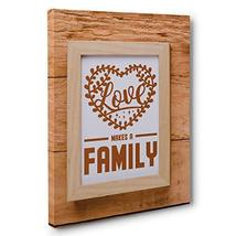 Love Makes a Family Motivational Quote Canvas Wall Art - $34.65