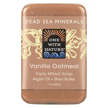 One With Nature Dead Sea Mineral Vanilla Oatmeal Soap - 7 oz - $6.70