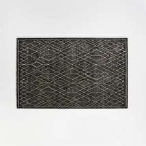 New 5x8 6x9 8x10 9x12 Ruell Black Hand Tufted Woolen Area Rug - $299.00+