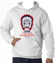 Cherokee Poverb Listen - New Cotton White Hoodie - $38.14