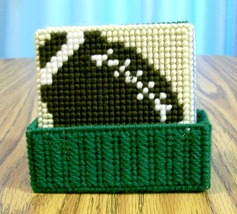 Sports Drink Coasters, Plastic Canvas, Handmade, Bunko Party, Beer Coasters - $18.00
