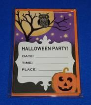 10 BRAND NEW DYNAMIC HALLMARK HALLOWEEN PARTY INVITATION CARDS PUMPKIN O... - $6.95
