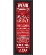 Personalized Delta Sigma Theta Sorority - 24 x 8 Family Cheer Framed Print - $39.95